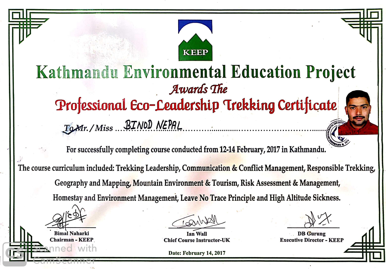 Guide Leadership Training Certificate
