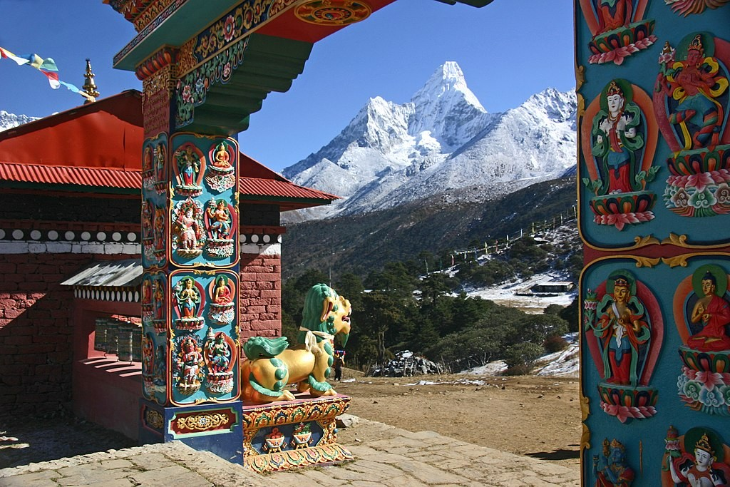 tengboche monastery everest view