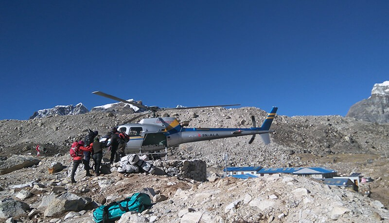 everest helicopter tour cost