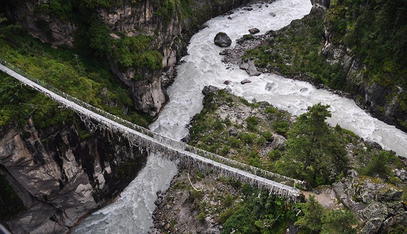 tenzing hillary suspension bridge